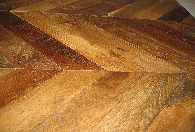 Antique French Oak Pointe d'Hongrie Pattern