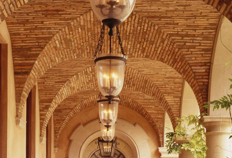 Antique Terracotta Strips Vaulted Ceiling